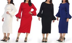 First Lady bell sleeve plus size dress.