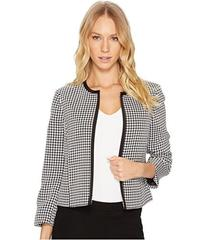 Tahari by ASL Gingham Open Front Jacket