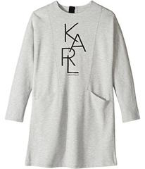 Karl Lagerfeld Long Sleeve Milano Dress with Logo