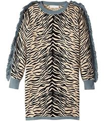 Stella McCartney Rita Zebra Striped Knit Dress w/