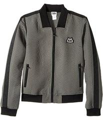 Karl Lagerfeld Jacquard Quilted Zip-Up Cardigan (B