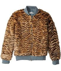 Stella McCartney Tilly Faux Fur Tiger Print Bomber