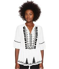 Kate Spade New York Pom Embroidered Top