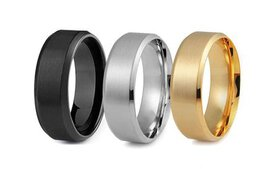 Men's Stainless Steel Comfort Fit Wedding Band Rin