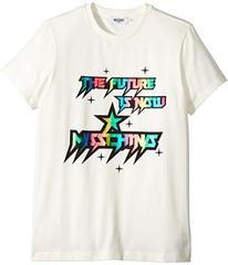 Moschino Short Sleeve 'The Future Is Now' Logo T-S