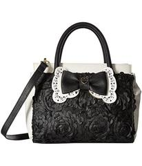 Betsey Johnson Painted Floral Satchel