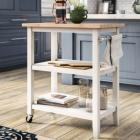 Andover Mills Raabe Kitchen Cart with Wood Top