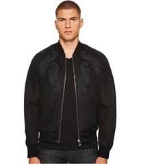 Versace Collection Baroque Detailed Mesh Bomber Ja