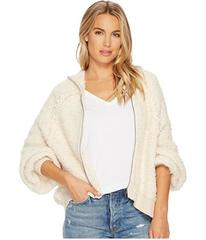 Free People Furry Time Zip-Up