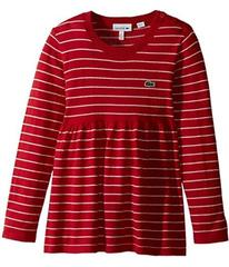 Lacoste Long Sleeve Stripe with Peplum Sweater (To