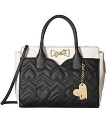 Betsey Johnson Dip Satchel with Removable Pouch