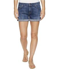 7 For All Mankind Relaxed Mid Roll Shorts in Barri