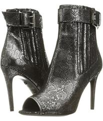 Just Cavalli Metallic Peep Toe Bootie