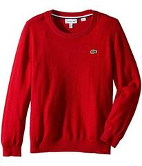 Lacoste Long Sleeve Crewneck Sweater (Toddler/Litt