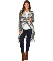 Stetson 1479 Wool Blend Black and White Cardigan