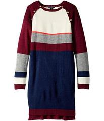 Tommy Hilfiger Kids Yarn-Dye Raglan Button Sweater