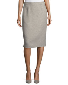 Escada Ravas Sequined Tweed Pencil Skirt