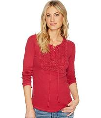 Lucky Brand Lace-Up Bib Thermal Top