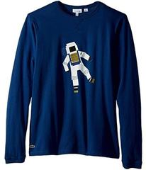 Lacoste Long Sleeve Space Graphic T-Shirt (Little