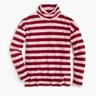 Deck-striped turtleneck T-shirt