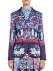Mary Katrantzou Thera Roman-Print Silk Blazer
