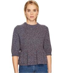 RED VALENTINO Multicolor Mouline Wool Yarn Top