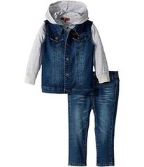 7 For All Mankind Vest/T-Shirt Hoodie/Jeans Set (I