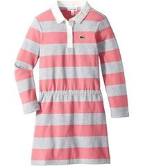 Lacoste Long Sleeve Stripe Chine Polo Dress (Toddl