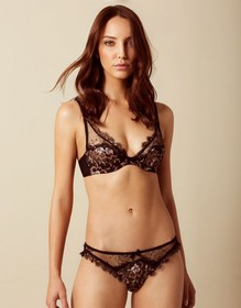 Carli Brief Black And Rose Gold