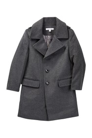 Isaac Mizrahi Single Breasted Wool Blend Overcoat