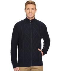 Nautica 7 Gauge Full Zip Mock Neck Sweater