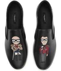 Dolce & Gabbana Patches Slip-On Sneaker