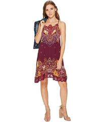 Free People Who's Sorry Now Printed Slip Dres