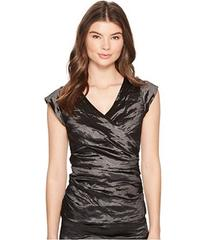 Nicole Miller Logan Techno Metal V-Neck Top