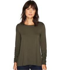 Vince Camuto Long Ruched Sleeve High-Low Hem Top