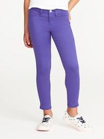 Pop-Color Ballerina Crop Jeggings for Girls