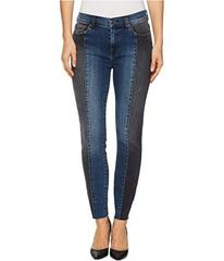 7 For All Mankind Ankle Skinny w/ Piecing & Cut Of