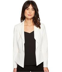 Tahari by ASL Bi-Stretch Long Sleeve Drape Ruffle