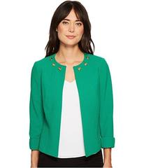 Tahari by ASL Open Front Jacket w/ Cuffed Sleeve a