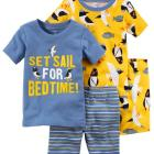 4-Piece Penguin Snug Fit Cotton PJs