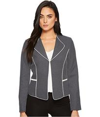 Tahari by ASL Novelty Piped Trim Jacket