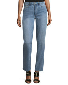 Tory Burch Betsy Faded Straight-Leg Jeans