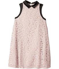 Lanvin Sleeveless Lace Dress with Contrast Trim (B