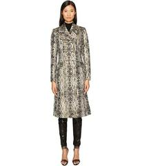 Just Cavalli Snake Print Double Breasted Coat