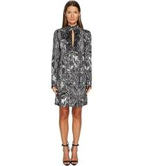 Just Cavalli Roses Printed Long Sleeve Dress