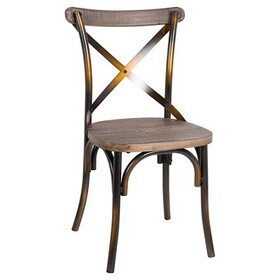 Zaire Side Dining Chair - Antique Copper - Acme