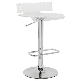 Counter And Bar Stools Acme Furniture Clear Chrome