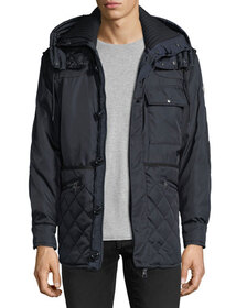 Moncler Pierce Quilted-Trim Jacket