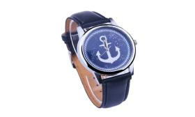 Faux Leather Elegant Anchor Sailor Watches for Wom