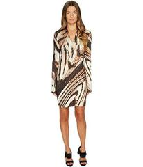 Just Cavalli Distorted Dragon Fly Print Long Sleev